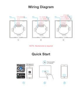 روش اتصال سیمها Sonoff-wiring