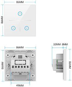 اندازه کلید ۳ پل تویا با طراحی جدید